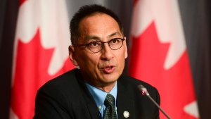 Dr. Howard Njoo, Deputy Chief Public Health Officer, holds a press conference during the COVID pandemic in Ottawa on Tuesday, Sept. 29, 2020. THE CANADIAN PRESS/Sean Kilpatrick
