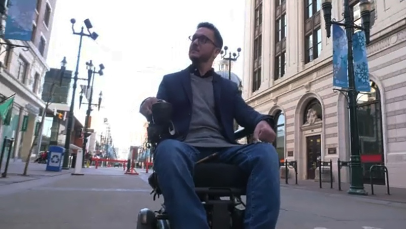 Accessibility consultant Sean Crumb works with cities and business to improve design spaces that improve access, safety and dignity for people with disabilities