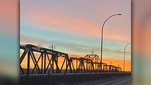 Chief Cornelius Bridge from Opaskwayak Cree Nation to The Pas. Photo by Diane Pelly.