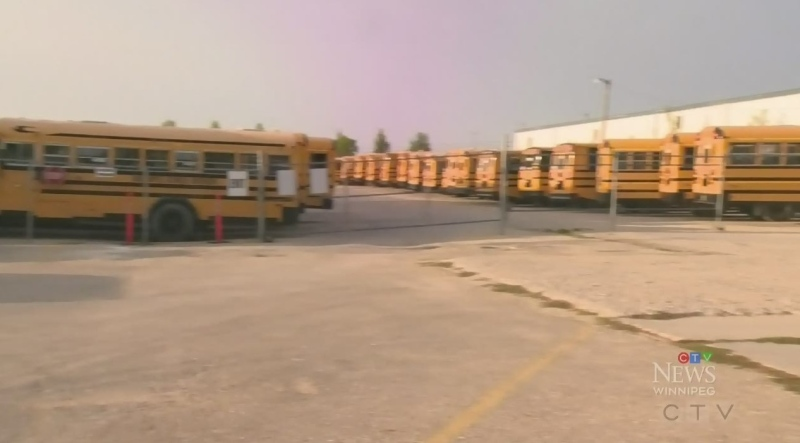 Winnipeg School Division bus strike over