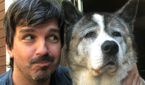 Damien Robitaille's version of Pump Up the Jam has gone viral. The secret to the success of his 137th song-a-day video may lie in the charm of his pet Akita Suki, who makes a guest appearance. SOURCE: Damien Robitaille/Facebook