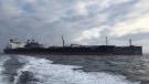 In this October 2019 photo, the MT Agrari is seen off the coast of Frederikshavn, Denmark. (Morten Weesgaard via AP)