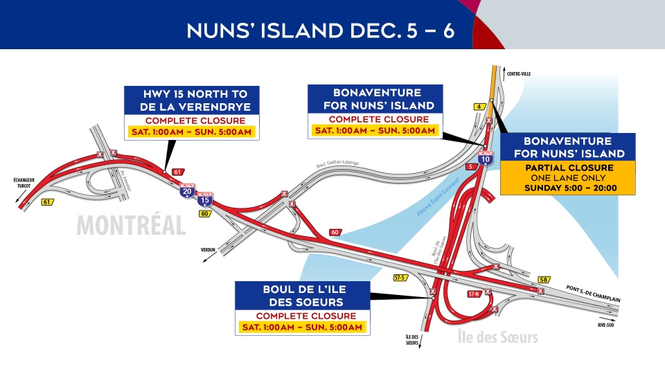 Highway 15 closure Dec. 5-6