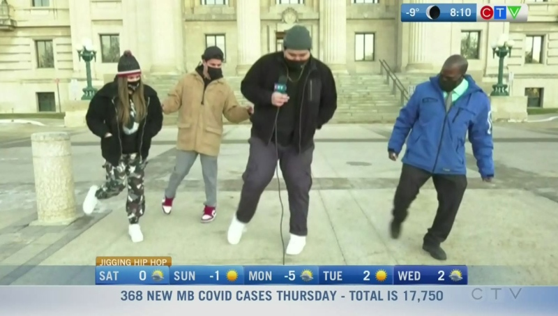 Manitoban going viral with jigging TikTok videos