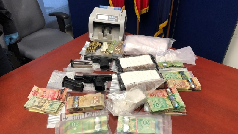 Items police say were seized while executing search warrants at three homes in Simcoe County (Courtesy OPP)