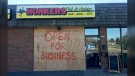 Two men are facing charges in connection to a break-in at Honkers Pub in Lethbridge.