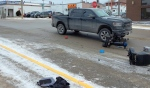 The Timmins Police Service is investigating a pedestrian-related collision that took place just before noon Friday. (Supplied)