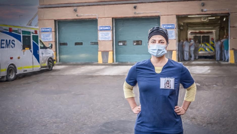 Daniel Sundahl's new portrait series features front-line workers at Edmonton's Grey Nuns Community Hospital. (Courtesy: Daniel Sundahl)