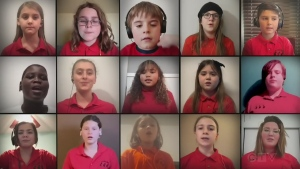After COVID closed the curtain on the Young Sudbury Singers' concert, the group released a music video of Children Together by Denise Gage. (Supplied)