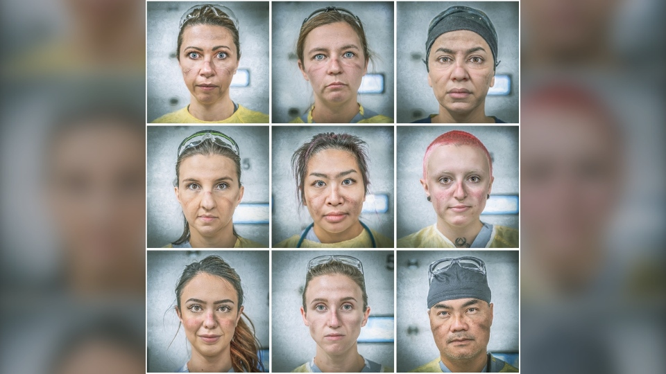 Daniel Sundahl's new portrait series features front-line workers at Edmonton's Grey Nuns Community Hospital. (Courtesy: Daniel Sundahl)