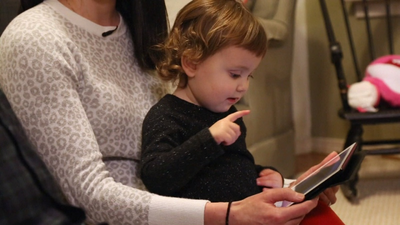 Screen time, child on tablet