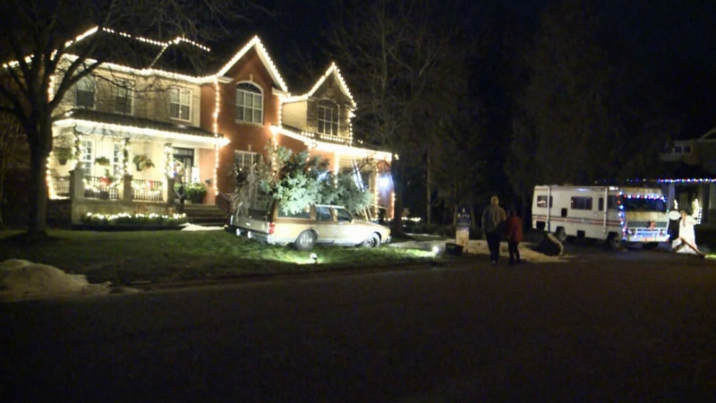 Christmas home just like the Griswolds