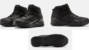 Saanich police said Friday Hart may be wearing, or may have discarded, these black Under Armour hiking boots.