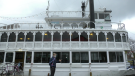 The Island Queen at the docks in Kingston. (Kimberley Johnson/CTV News Ottawa)