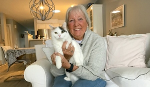 After a year's worth of pictures, adventures and love, Barbara Weeks published a children's book starring her rescue cat Dolly. (Alana Pickrell/CTV News)