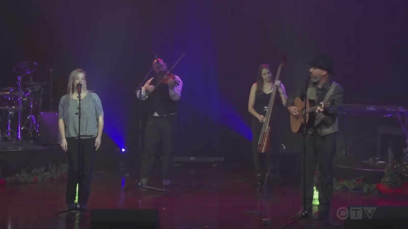 Sudbury group The Tarvelles - Marc Serre, Celine Tellier, and Paul and Melika Lemelin - cover 'White Christmas.'