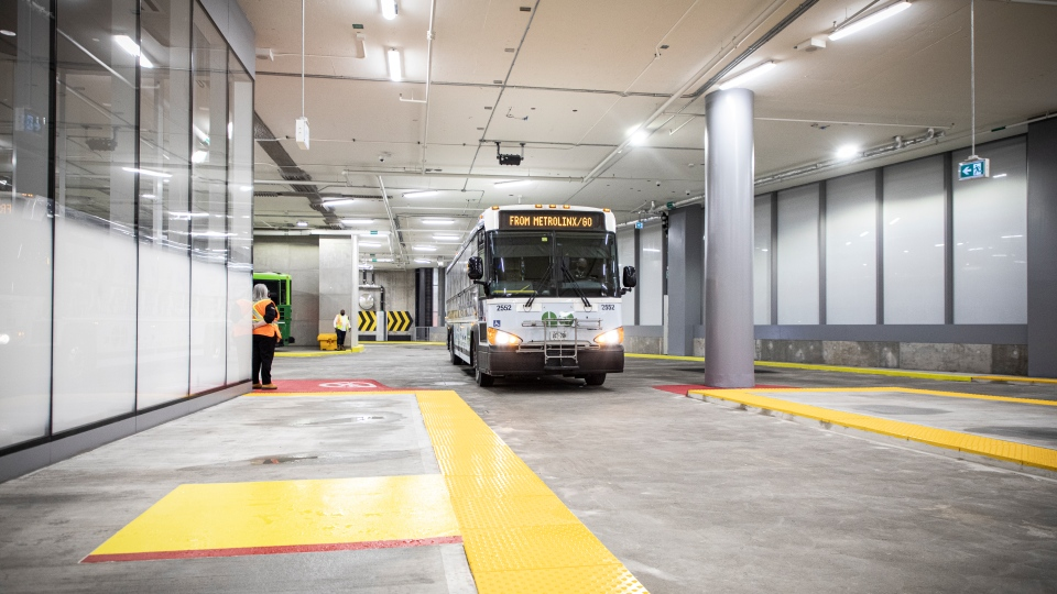 Doors open at the new Union Station GO bus hub in Toronto on Dec. 5. (Supplied)