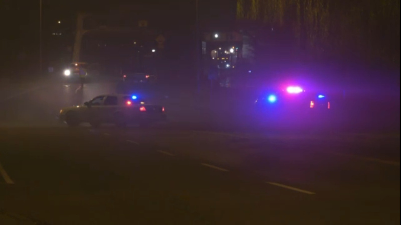 RCMP are investigating after a pedestrian was struck in Courtenay Friday evening. (CTV)