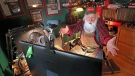 Santas are turning to Zoom this year to pay virtual visits to children. (David L. Ryan/The Boston Globe/Getty Images)
