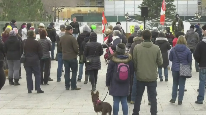 Another anti-mask protest in Edmonton