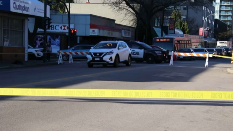 A pedestrian was taken to hospital in critical condition Saturday afternoon after being struck by an SUV on a busy street in New Westminster. (CTV)