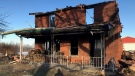 A farmhouse south of Ingersol, Ont. is destroyed following a fire on Sunday, Dec. 6, 2020. (Sean Irvine / CTV London)