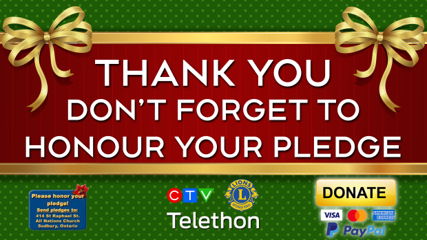 Telethon 2020 Thank you honour your pledge
