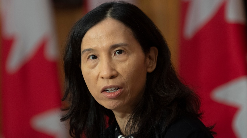 Chief Public Health Officer Theresa Tam responds to a question during a news conference Tuesday December 8, 2020 in Ottawa. THE CANADIAN PRESS/Adrian Wyld