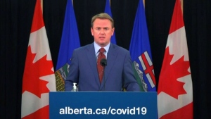 Alberta Health Minister Tyler Shandro is scheduled to speak at 2:30 to outline the use of pharmacies in delivering COVID-19 vaccines. (File photo)