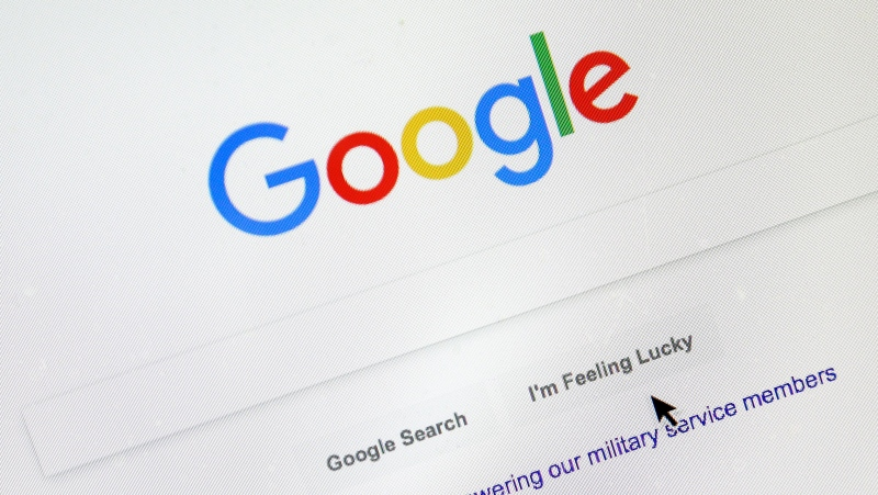 In this Tuesday, Aug. 28, 2018, file photo, a cursor moves over Google's search engine page. (AP Photo/Don Ryan)