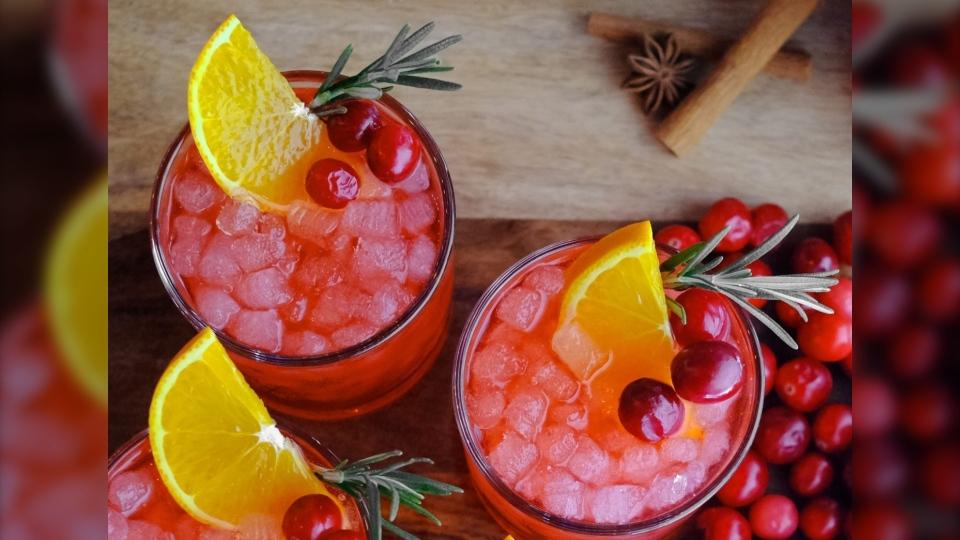 Cranberry Moonshine Mule cocktail