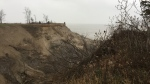 The so-called 'Grand Canyon' near Port Burwell, Ont. is seen Wednesday, Dec. 9, 2020. (Bryan Bicknell / CTV News)