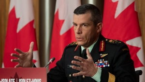 Major General Dany Fortin responds to a question during a news conference Tuesday December 8, 2020 in Ottawa. THE CANADIAN PRESS/Adrian Wyld