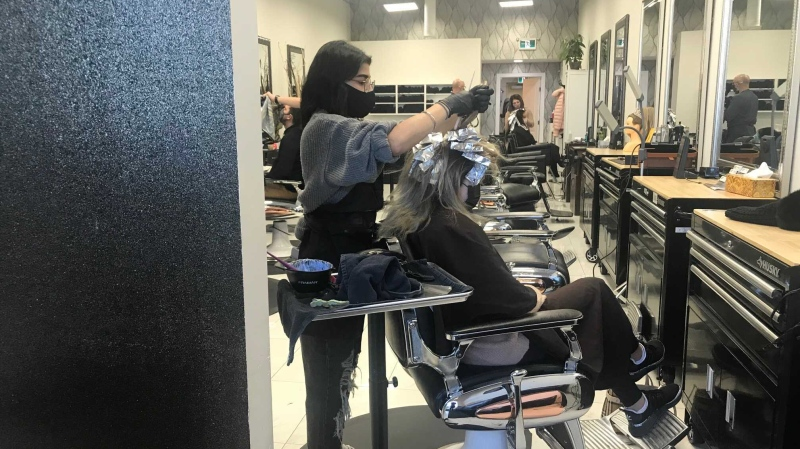 Hair salons and other personal service businesses were allowed to reopen in Alberta on Monday. (File photo)