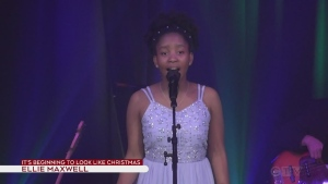 Ellie Maxwell singing on the Telethon
