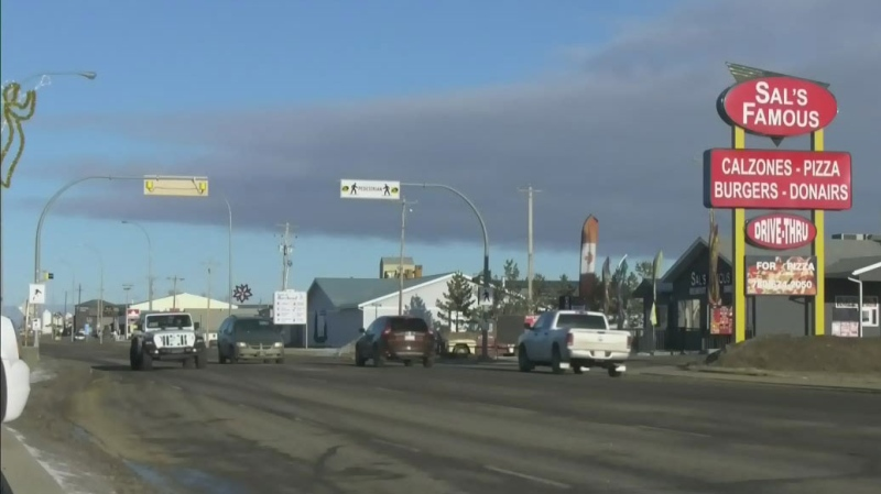 Some rural communities, like Barrhead seen here, are dealing with a rapid rise in cases amid COVID-19's third wave in Alberta.