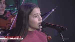 Isabelle Trudeau performs The Christmas Song