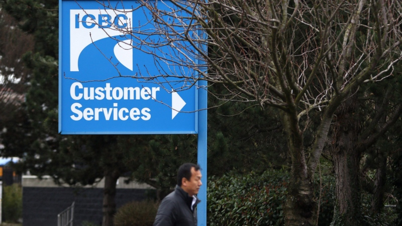 Signage for ICBC (Insurance Corporation of British Columbia) is shown in Victoria, on Tuesday, Feb. 6, 2018. (Chad Hipolito / THE CANADIAN PRESS)