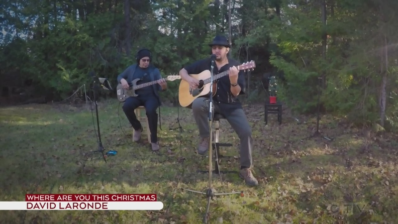 David Laronde sings Where Are You This Christmas