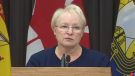 Dorothy Shephard, New Brunswick Minister of Health provides an update on COVID-19 at a news conference in Fredericton on Dec. 11, 2020.