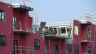 A section of a building under construction in London, Ont. collapsed on Friday, Dec. 11, 2020. (Source: Jade Doxtator)