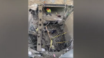 Inside the partial building collapse in London, Ont. on Friday, Dec. 11, 2020. (Source: Javier Carnton)