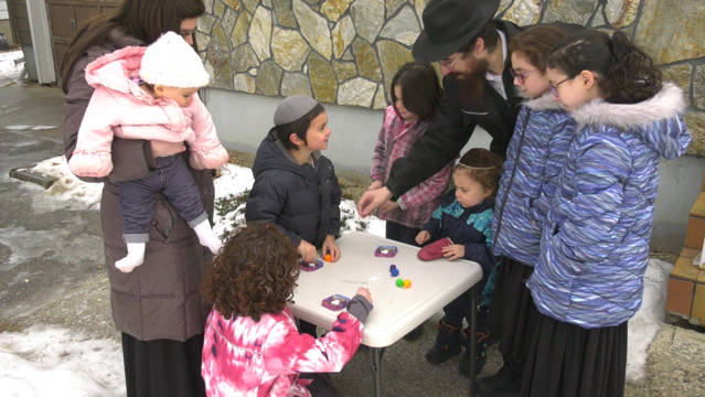 Rabbi Avrohom Simmonds and his family are celebrating differently this year due to the pandemic. (Alison Mackinnon/CTV News Regina)