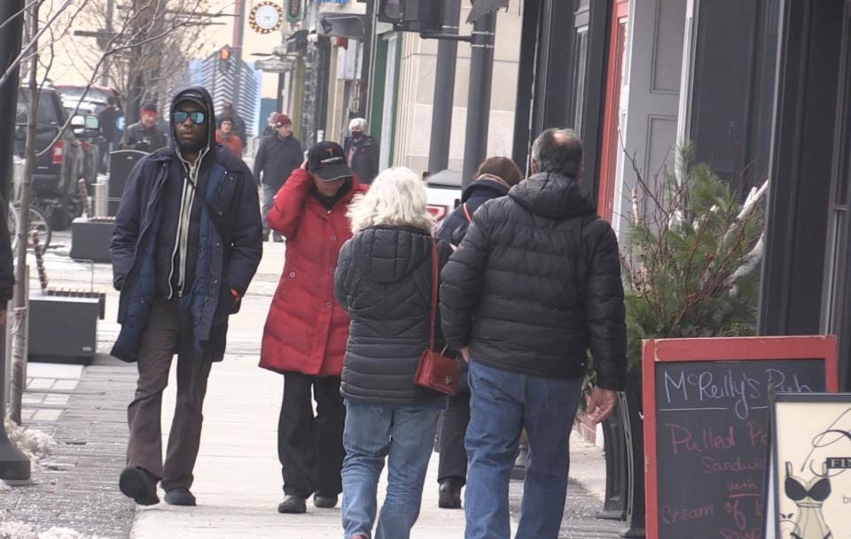 Barrie Dunlop Street pedestrians
