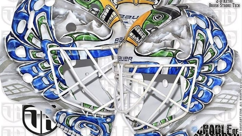 Dave Gunnarsson unveiled the design of a mask made for Canucks goalie Braden Holtby on his Instagram account on Friday.