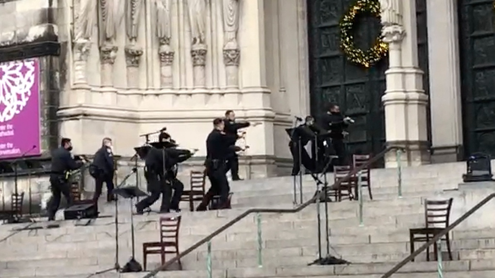 Suspect Fatally Shot by Police After Firing Weapon Near Manhattan Cathedral Concert