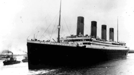 In this April 10, 1912 photo the Titanic leaves Southampton, England. (AP Photo)