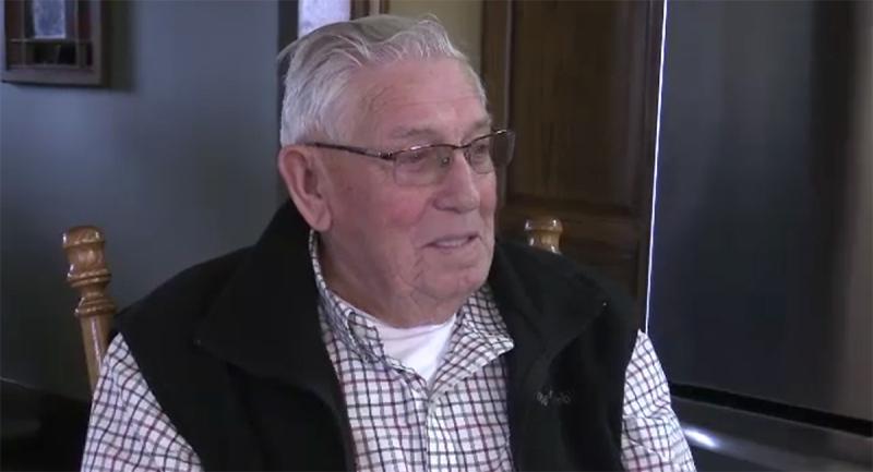 Jack Dykxhoorn, 84, speaks in Malahide Township on Monday, Dec. 14, 2020. (Brent Lale / CTV News)
