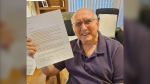 Bob Ford is now pen pals with the stranger who sent him an unexpected letter one day. (Photo courtesy of Nissa Coghlan-Kerr, Stirling Park Retirement Community)
