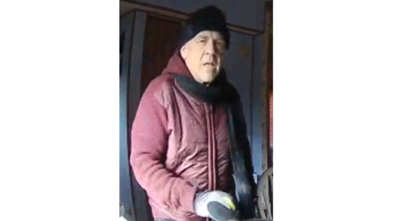 Essex County OPP say they are looking for a suspect who was caught on security camera footage at a home in Colchester. (Courtesy OPP)